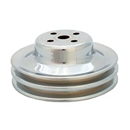 Spectre Performance 4494 Chrome Double Belt Water Pump Pulley for Ford 289