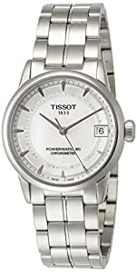 Tissot Luxury Automatic COSC Women's Diamond MOP Dial Watch with Stainless Steel Bracelet T0862081111600