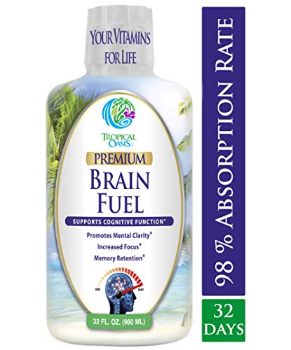 (Brain Fuel - Liquid Brain Nootropic Supplement for Increased Mental Clarity, Focus, Concentration, Memory Retention- Fast Acting Liquid Formula - 32oz, 32 Serv)