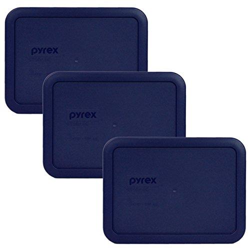 - Pyrex 7210-PC Rectangle Dark Blue 3 Cup Storage Lid for Glass Dish (3, Dark Blue)