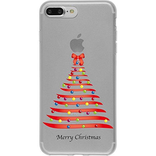 PhoneNatic Apple iPhone 7 Plus Coque en Silicone Noël X Mas Motif 1 Case iPhone 7 Plus + films de protection