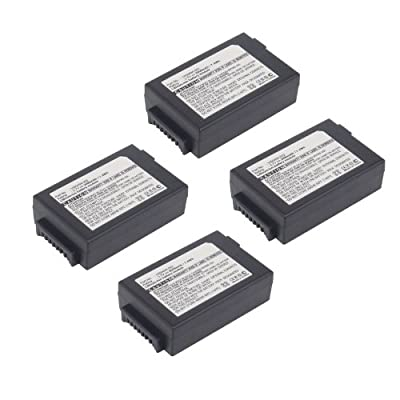 4pc Exell Barcode Scanner Battery Fits PSION WA3006, 1050494, 7525,7527 USA SHIP