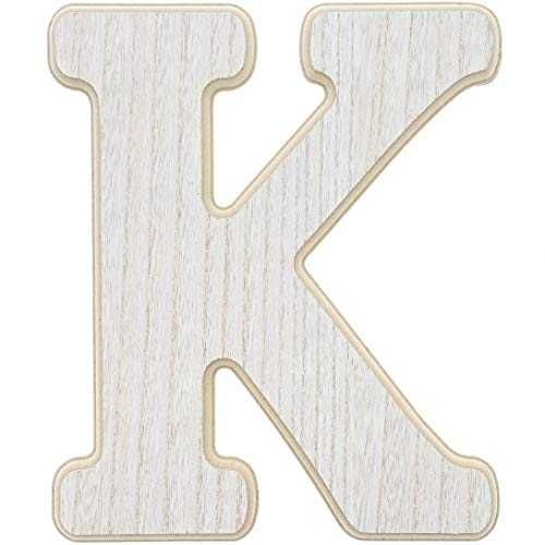 Letter K Craft (Unfinished Wood Letter K Cutout for DIY Painting, Crafts, and Wall Decor, 10 x .5 x 12)