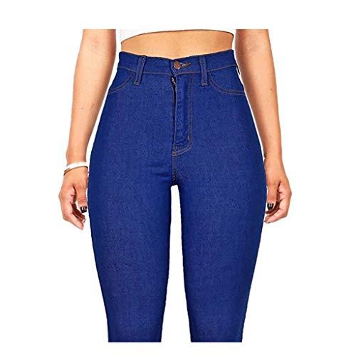 Delgados Alta 1 de Pantalones Vaqueros Las de RXF Mujeres Delgados Los Eran Cintura de los Pantalones xXx6qfZ