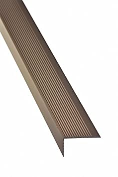 23x40 mm Á ngulo escalera 100cm autoadhesivo Perfil de borde de escalera Borde de la escalera Perfil paso - Plata acerto