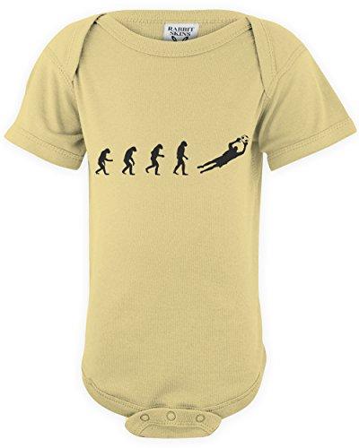 ShirtLoco Baby Evolution Of Man To Soccer Goalie Onesie Bodysuit, Banana 12 Months ()