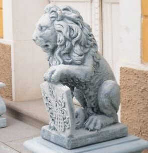 Figura decorativa jardín Escultura león figura jardín escultura de hormigón piedra mecanismo figuras de jardín-Estatua: Amazon.es: Hogar