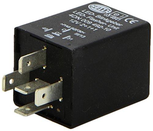 HELLA 4DN 009 492-101 knipperlicht – 12V – 5-polig – gestoken – LED – met houder