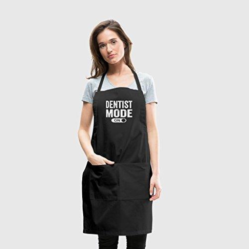 - PotteLove Dentist Mode On Chefs Kitchen Apron For Men And Women, Black