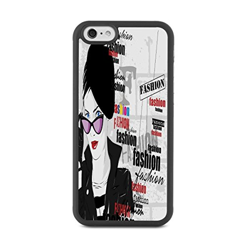iPhone 6 Cases,Design Cute Funny Case for iPhone 6 6S 4.7 Inch Soft Flexible TPU Silicone Slim Shockproof Cover with Sunglasses Fashionable Woman - Sunglasses Offers Hut
