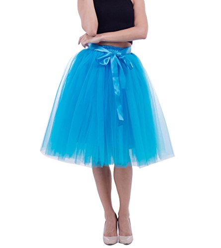 Jupe en courte tutu Femme Jupon couleurs tulle Rockabilly Pettiskirt Bleu varies ZqxgUt