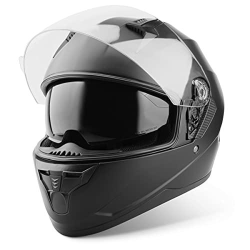 Vinz Integralhelm mit Sonnenblende   Motorrad Helm Vollvisierhelm Mopedhelm   Motorradhelm Full-Face Helme   In Gr. XS…