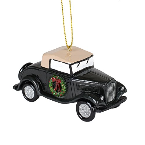 Ford V8 Motors (Ford Motor Co. 1932 V8 Automobile Black 3 Inch Resin Hanging Christmas Tree Ornament)