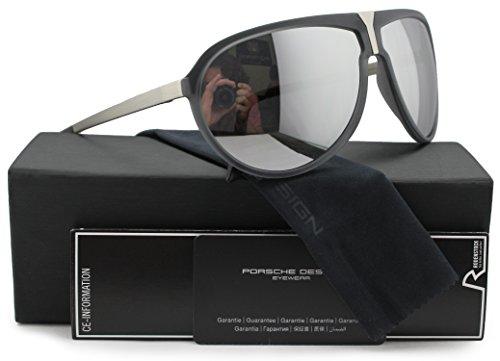 Price comparison product image Porsche Design P8619 C Sunglasses Matte Grey w / Silver Mirror (V745) 8619 64mm Authentic