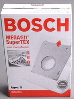 Bosch Part#462544 - Genuine Type G MEGAfilt SuperTEX Vacuum Bag (BBZ51AFG2U) - Fits Bosch Compact Series and Formula Series Vacuums - 5/Package