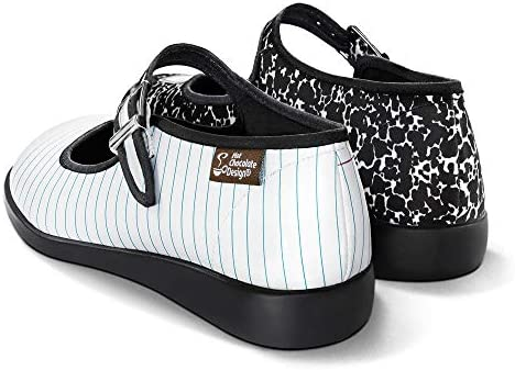 Hot Chocolate Design Chocolaticas Funky Canvas Women's Mary Jane Flat Shoes 3