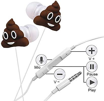 Amazon.com: qearfun en Oreja Wired 3.5 mm 3d Cute Cartoon ...