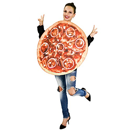Whole Pizza Food Unisex Adult Costume (Womens Pizza Costume)
