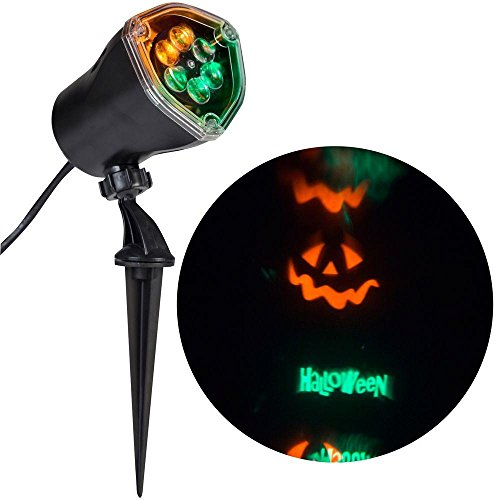 (Halloween Projector Lights - Ghosts Witches Bats Spiders Skeletons Projection Chasing Spotlight)