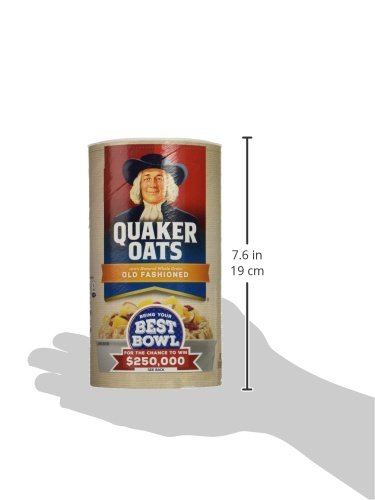 030000010204 - Quaker Oats Old Fashioned Oatmeal, 18 oz Canister carousel main 12