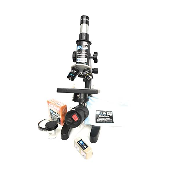 G Lab Compound Student Microscope With LED LAMP,50 BLANK N TWO PREPARED SLIDES ISO 9001:2015 CERTIFIED 5