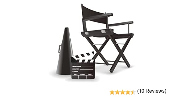Silla de director negra para maquillaje, plegable, de madera: Amazon.es: Hogar