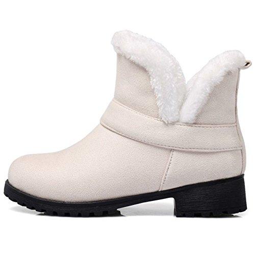 Boots TAOFFEN On Slip Beige Women's nnYTv5