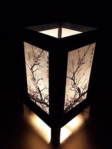 ese Cherry Blossom Tree Art Bedside Desk Table Lamp 8