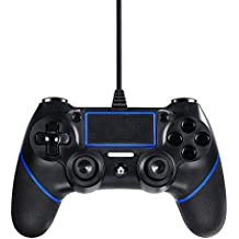 Lilyhood PS4 wired controller for Playstation 4, professional usb PS4 wired gamepad for PlayStation 4/PS4 Slim/PS4 Pro cable length 6.5foot (black)