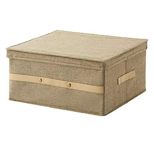 Softneco Caja de almacenaje Plegable con Doble cajón, Durable Lino Tela no Tejida Cajas de Almacenamiento Gran Capacidad...