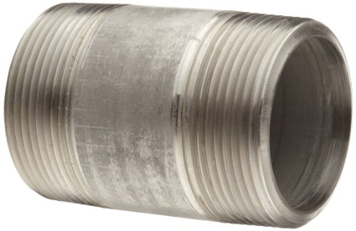 Stainless Steel 304/304L Pipe Fitting, Close Nipple, Schedule 80 Seamless Extra Heavy, 1