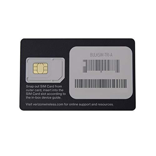 Verizon Wireless 4G LTE SIM Card - All 3 Sizes (3-in-1), 1 Card, Black