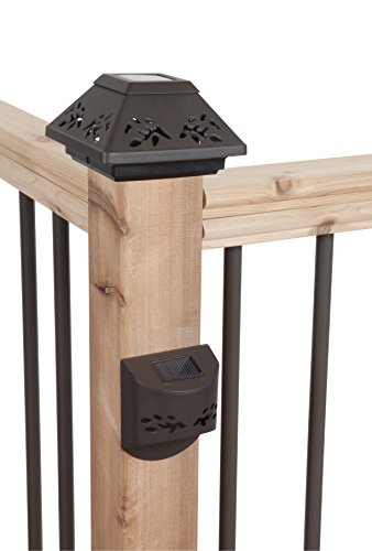 FUSION NEW Bronze Solar Post Cap & Step Light Fence Decking