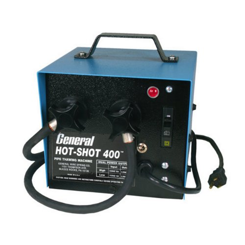 Thawing Pipe Machine - General Pipe Cleaners HS-400 400-Amp HotShot Pipe Thawer