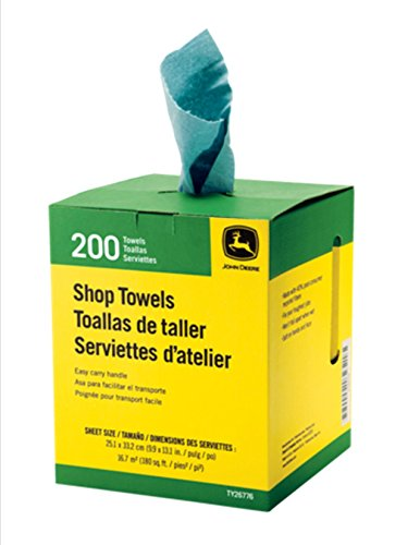 JOHN DEERE 200 Count Shop Towels in Cardboard Carton, Center-Pull (John Deere Shop Towels)