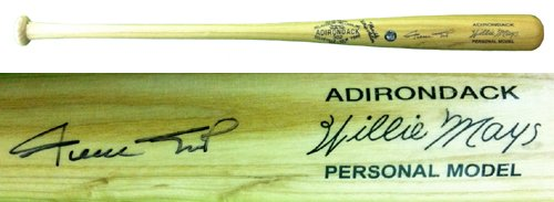 Willie Mays Autographed/Signed Rawlings Adirondack Engraved Personal Model Blonde Bat (Mays Willie Gloves Gold)