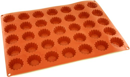 (World Cuisine Non-Stick Silicone Mold, Tartlet, Fluted)