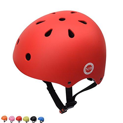 Bmx Bicycle Helmets (XJD Kids Cycling Helmet, Impact Resistance Ventilation for Multi-Sports, Roller Bicycle BMX Bike Skateboard Sport Helmet (Red))