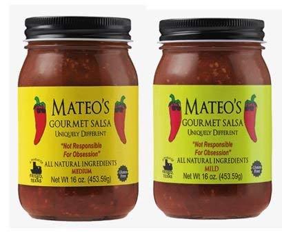 Mateos Gourmet Salsa, Medium & Mild 16 oz (Variety Pack) by Mateo's