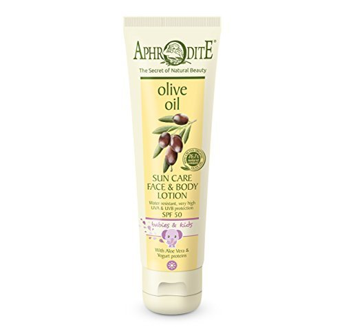 Aphrodite Olive Oil Sun Care for Babies & Children SPF 50 150ml by Potomac Valley Sponges, Spa & Body