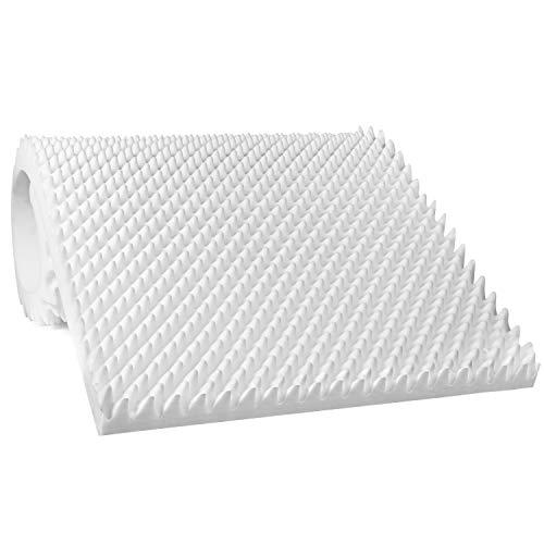 Vaunn Medical Egg Crate Convoluted Foam Mattress Pad - 3 Thick EggCrate Mattress Topper (Standard Twin Bed 38 x 75 x 3)