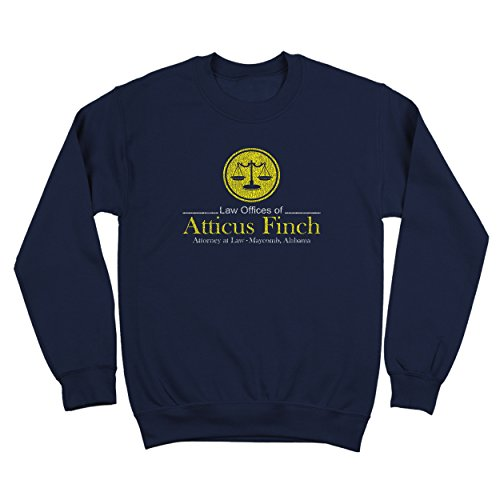 Atticus Finch Law Offices Funny Retro Classic Book Humor Mens Sweatshirt Large - Atticus Finch Clothing