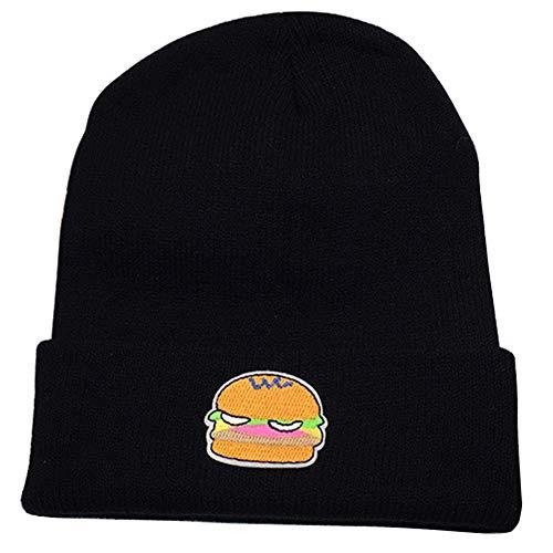 Hombres Lana Knitting Beanie para y Winter Cap Warm Mujeres Skull Hats hamburguesa IRONLAND qFTnXzw0Uw