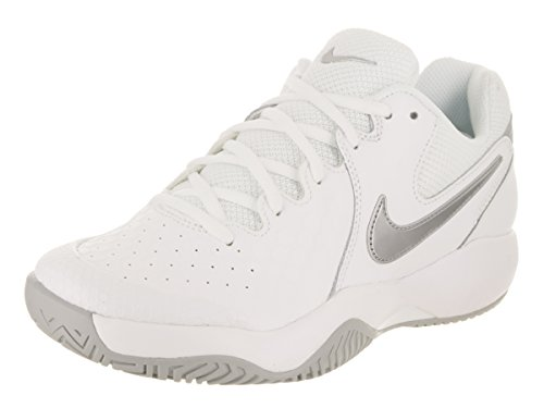 Resistance Chaussures WMNS Zoom de Multicolore NIKE White Grey Metallic 101 Femme Tennis wolf Silver Air aHqxwC