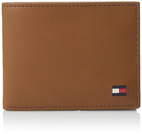 Tommy Hilfiger Men's Leather Wallet - Sleek and Thin Multipurpose Bifold with Removable Card Holder