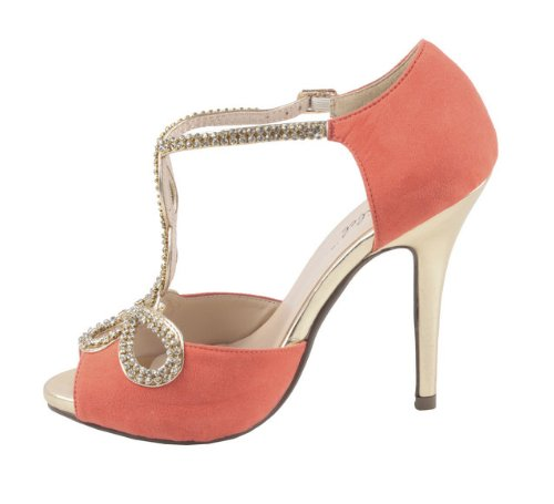 Bonnibel Tiara Dress Pumps Coral Shoes Sandals Bonnibel Womens Womens 1 ptqg5UUw