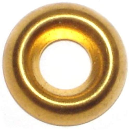 Hard-to-Find Fastener 014973436605 Finishing Washer Brass, 8, Piece-160
