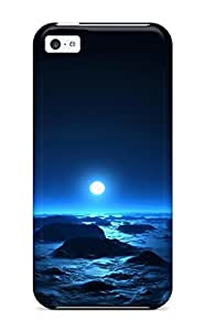 TYHH - Iphone 6 4.7 Case Cover - Slim Fit Tpu Protector Shock Absorbent Case (sea & Moon At Mid Night) ending phone case