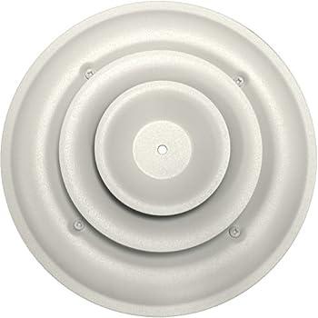 Speedi Grille Sg Rcr 06 6 Inch Round White Ceiling Air