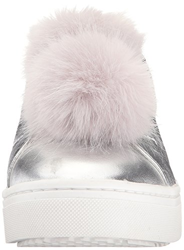 Silver Women's Leya Sam Soft Leather Edelman Sneakers Metallic xnUppPR